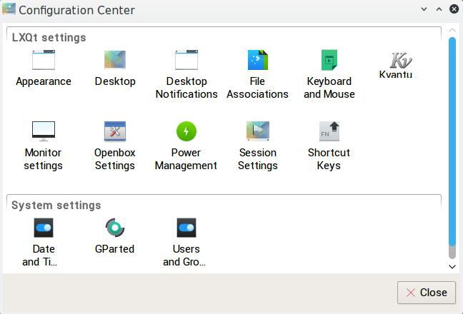 lxqt desktop settings
