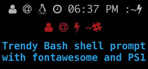 Trendy Bash shell prompt with fontawesome and PS1