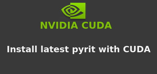 Install pyrit in Kali Linux/Debian with CUDA