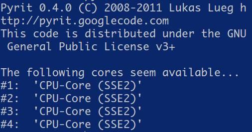 debian pyrit lsit_cores command