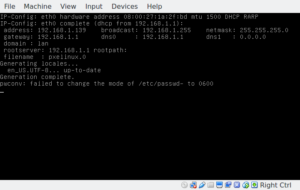 openwrt pxe boot server on virtualbox