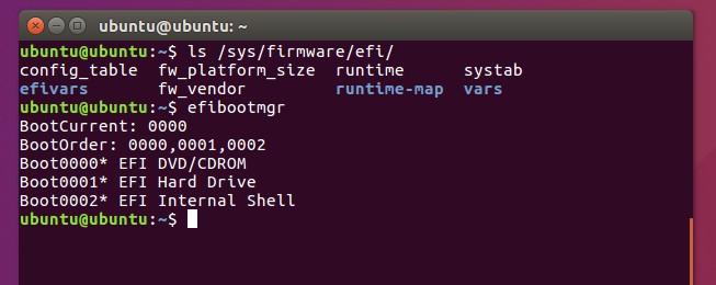check uefi or bios on linux
