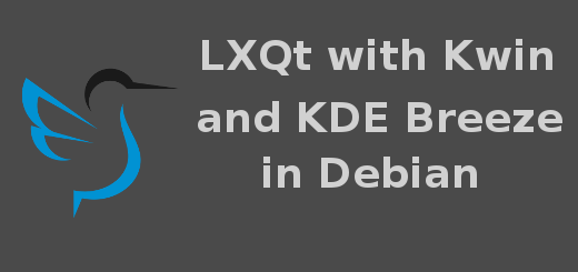 LXQt with kwin and KDE Breeze theme in Debian