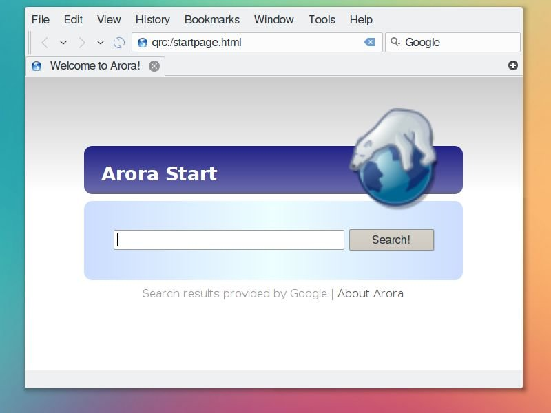 Arora Qt browser