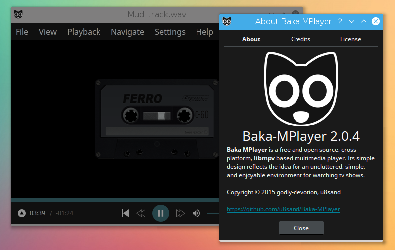 Baka-MPlayer, mpv based media player supports hardware