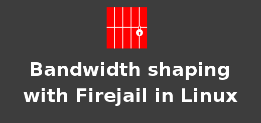 Simple bandwidth shaping in Linux with firejail