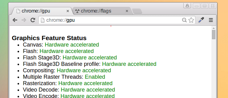 chrome hardware acceleration fully enabled