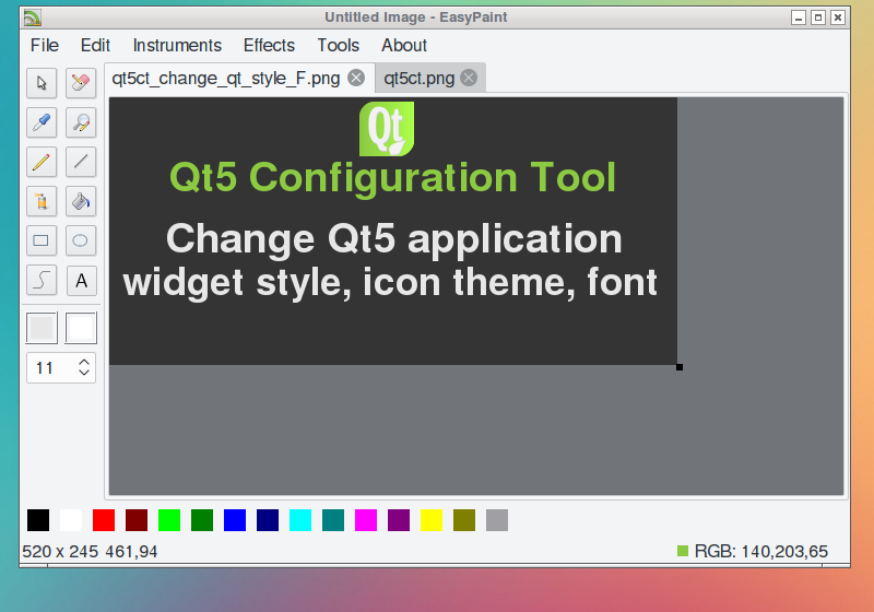 qt5 change theme icon