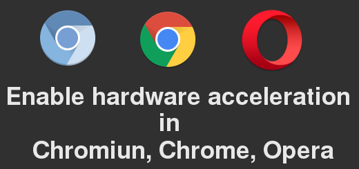 Enable hardware acceleration in Chrome, Chromium, Opera, Slimjet