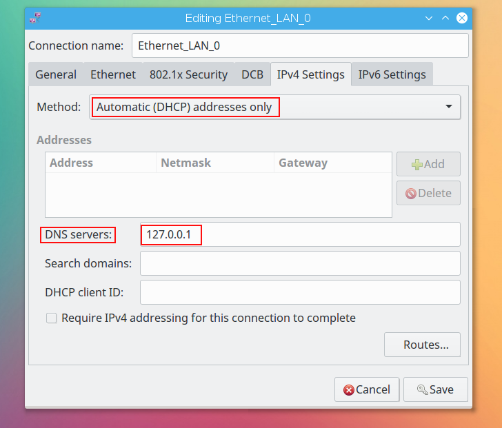 dnsmasq caching dns server network manager