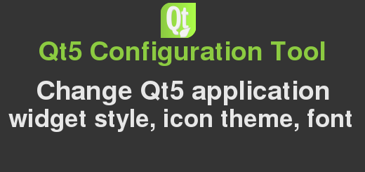 Change Qt5 application style with qt5ct