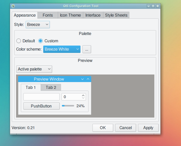Change Qt5 application style with qt5ct - PCsuggest