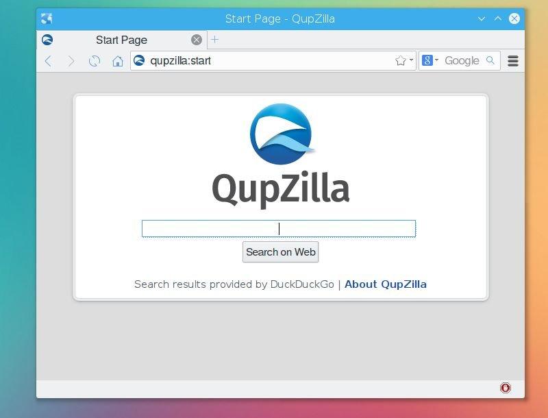 Qupzilla qt browser
