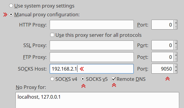 firefor tor proxy