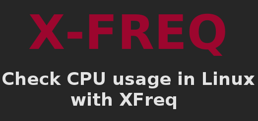 Check CPU usage in Linux with XFreq