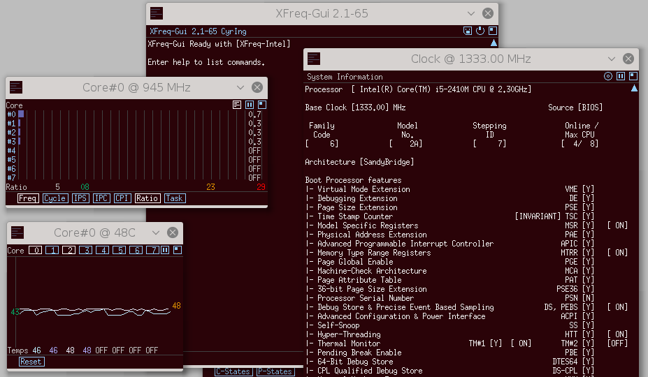 check cpu usage linux xfreq