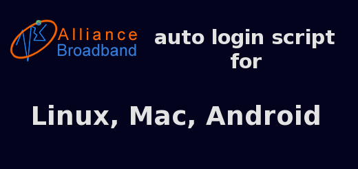 Alliance broadband auto login script for Linux, Mac, Android