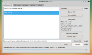 create multiboot usb linux