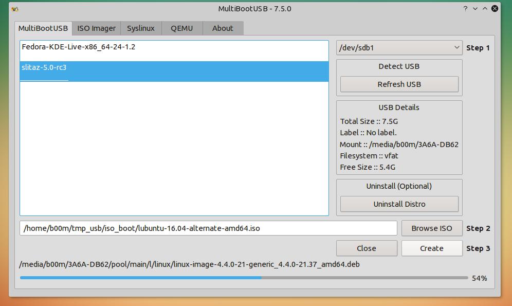 create multiboot usb linux