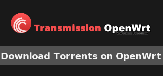 openwrt torrent transmission web interface