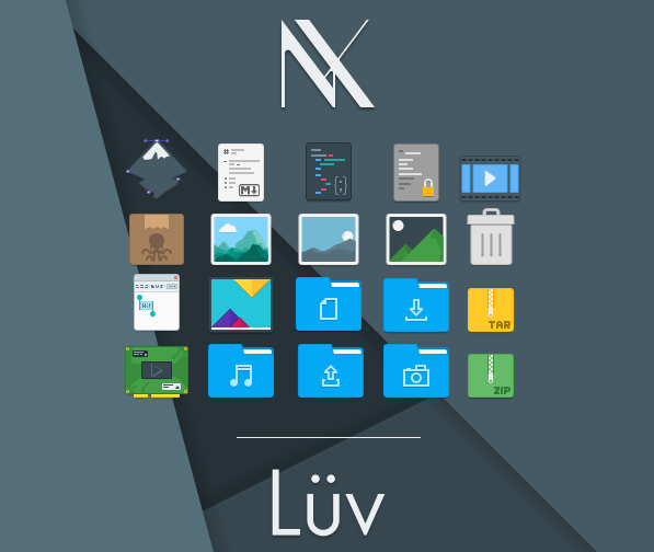 Luv KDE icon theme