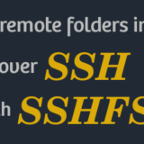 SSHFS mount remote folder linux