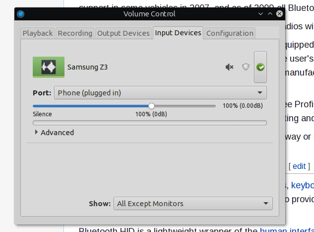 linux bluetooth audio source pavucontrol