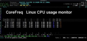 How to find Linux CPU usage with CoreFreq