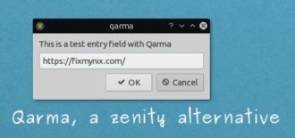 Qarma – A lightweight zenity alternative in Qt