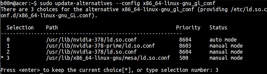 nvidia optimus ubuntu OpenGL fix