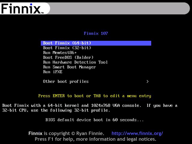 finnix live linux