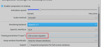 kwin fix linux screen tearing