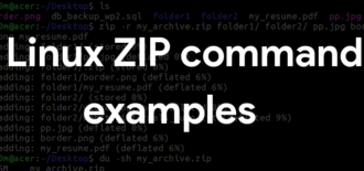 Linux zip command examples – create and password protect ZIP files