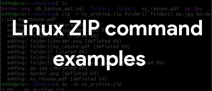 linux zip command example