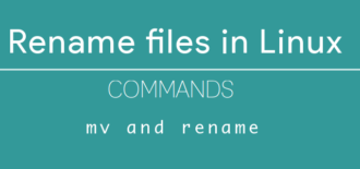 How to rename file in Linux with command line