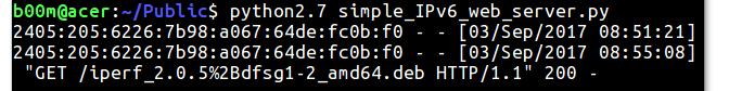 python ipv6 web server