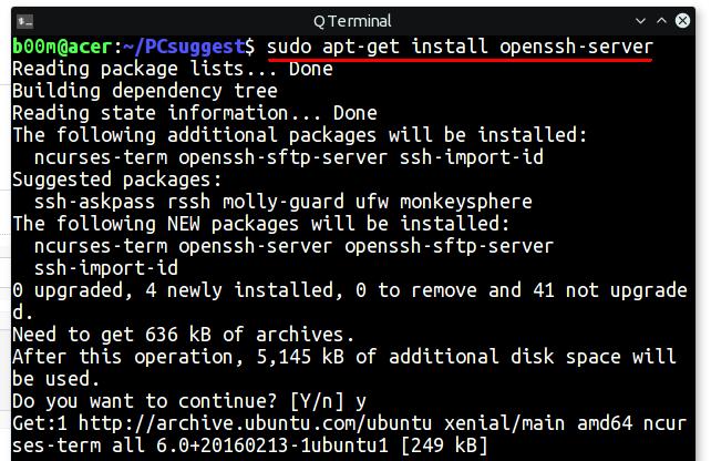 install ssh ubuntu