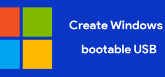 create a windows 10 bootable USB