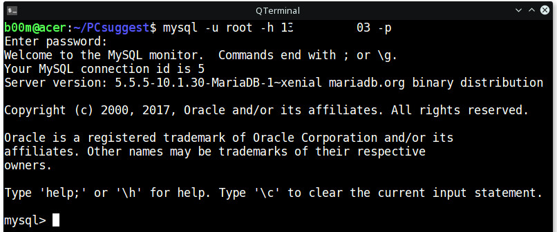 mysql allow remote connections