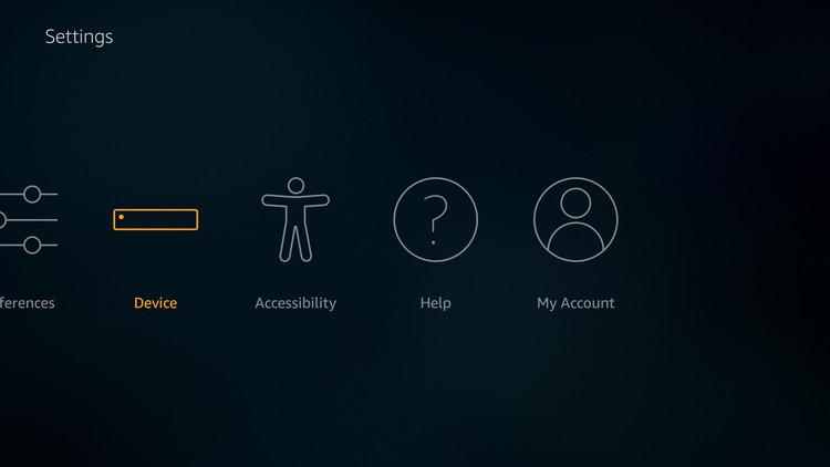 FireStick device settings