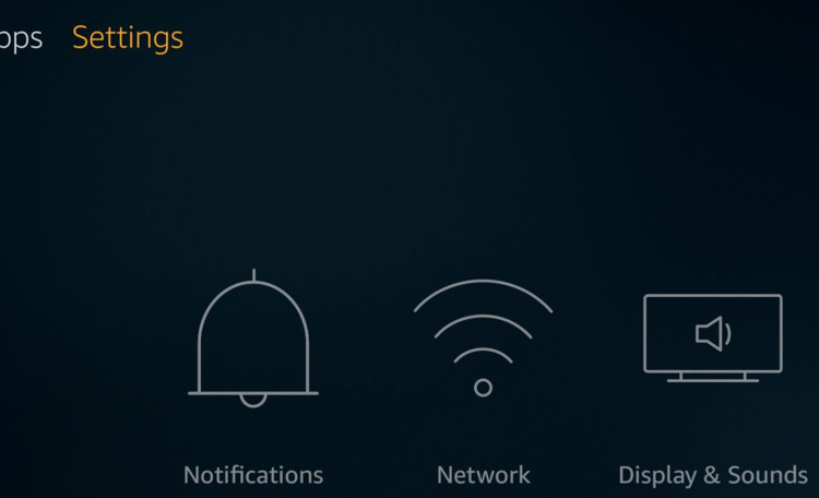 fire tv stick settings menu
