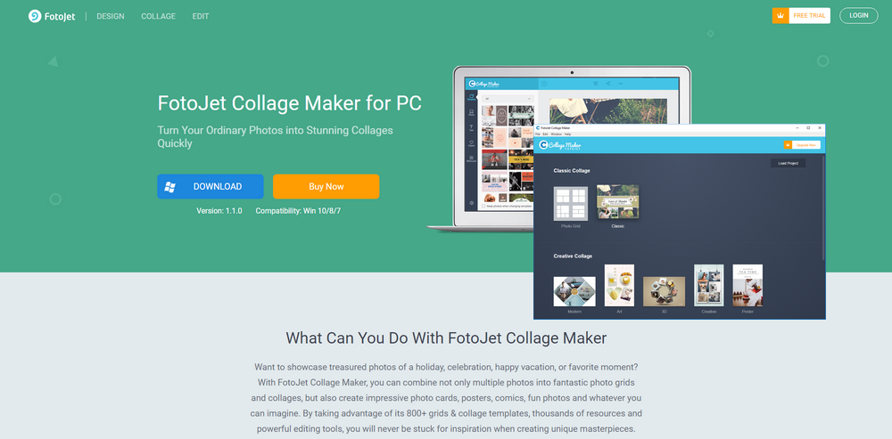 FotoJet Collage Maker Review - How It Can Simplify Collage Design