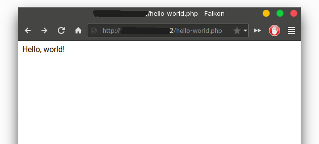 php hello world test